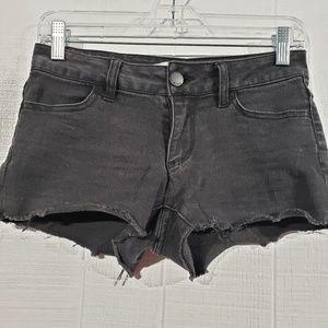 Black Cutoff Jean Shorts
